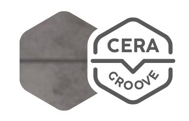 CERAgroove - U-drážka - žiadne špárovanie