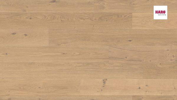 Drevená podlaha Haro DUB FUMED Puro biely Universal alpine 13,5mm click 538 963