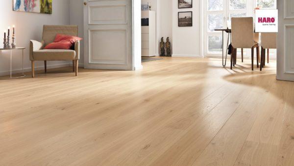 Drevená podlaha Haro DUB Light biely Markant silk 13,5mm click 541 804
