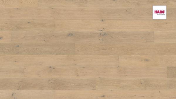Drevená podlaha Haro DUB Light biely Sauvage silk 13,5mm click 541 810