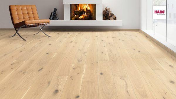 Drevená podlaha Haro DUB Light biely Universal 13,5mm 531 990