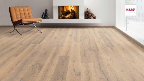 Drevená podlaha Haro DUB Puro biely Alabama 13,5mm click 529 764