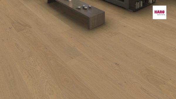 Drevená podlaha Haro DUB Sand sivý Markant 13,5mm click