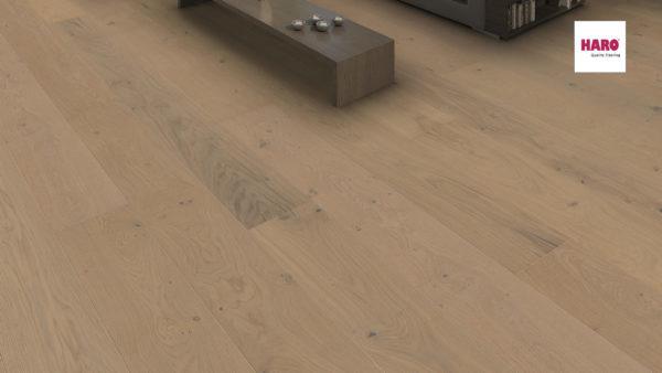 Drevená podlaha Haro DUB Sand sivý Sauvage 13,5mm click