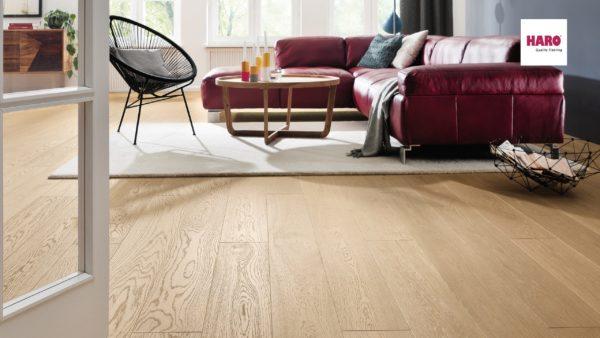Drevená podlaha Haro DUB puro biely Exklusiv 13,5mm click 531 679