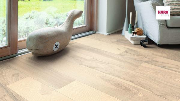 Drevená podlaha Haro JASEŇ Light biely Universal 13,5mm click 541 858
