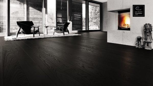 Drevená podlaha parkettmanufaktur by Haro DUB CARBON čierny Selectiv 13,5mm click 529 066