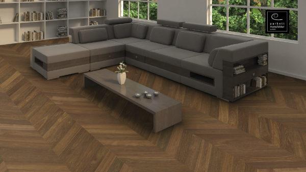 Drevená podlaha parkettmanufaktur by Haro DUB FUMED Selectiv 9,8mm pero-drážka 539 330