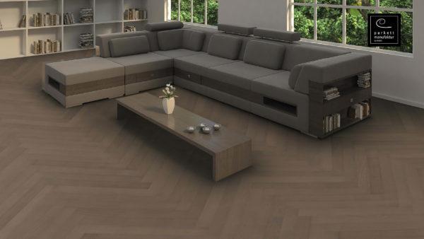 Drevená podlaha parkettmanufaktur by Haro DUB Graphite sivý Selectiv 10mm pero-drážka 539 340