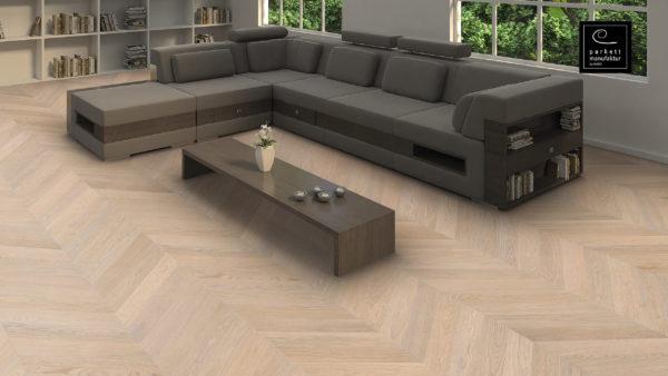 Drevená podlaha parkettmanufaktur by Haro DUB biely Selectiv 9,8mm pero-drážka 539 324