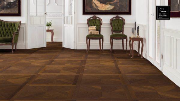 Drevená podlaha parkettmanufaktur by Haro JASEŇ ARABICA MEZZO 18mm pero-drážka 535 321