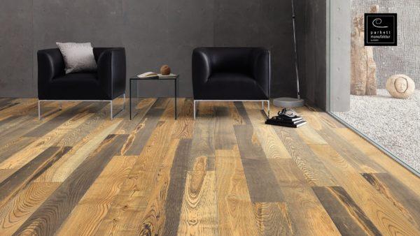 Drevená podlaha parkettmanufaktur by Haro JASEŇ BARRIQUE Selectiv 13,5mm click 529 064