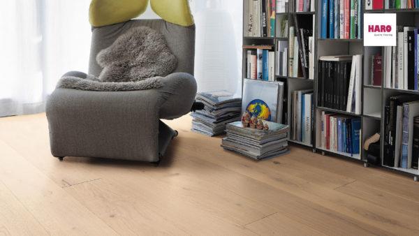 Drevená podlaha Haro DUB Puro biely Sauvage retro 13,5mm click 535 622